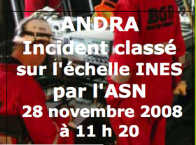 incident déclaré à l'ASN
